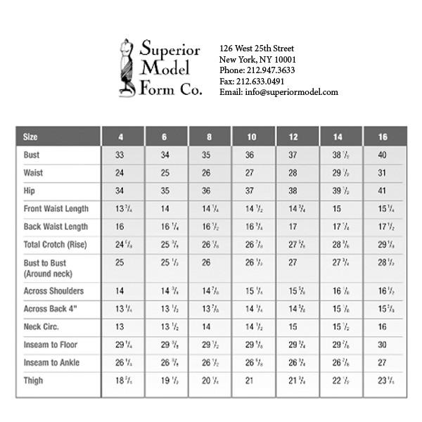Women S Clothing Measurements
