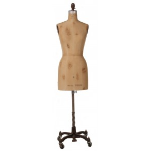 Vintage Display Dress Form With Tears No Cage