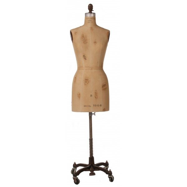 Vintage Display Dress Form With Tears No Cage - Superior Model